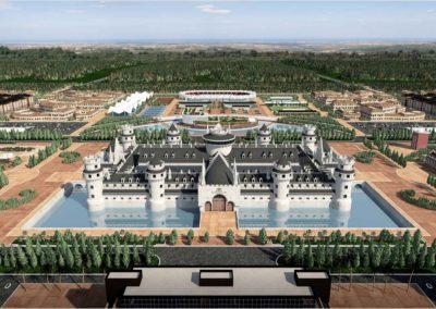 Europe Royale Theme Park. Castillo. Bluerain Holding