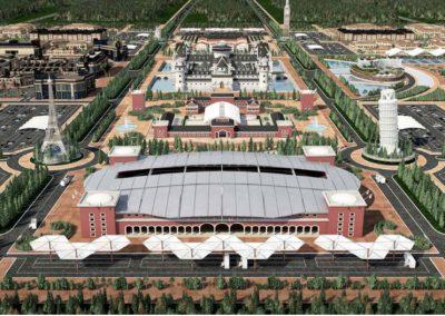 Europe Royale Theme Park. Vista aérea. Bluerain Holding