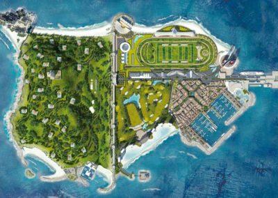 Vista aérea. Diamond Island. Bluerain Holding